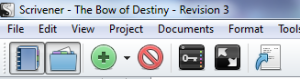 Screenshot of My Novel WIP - The Bow of Destiny