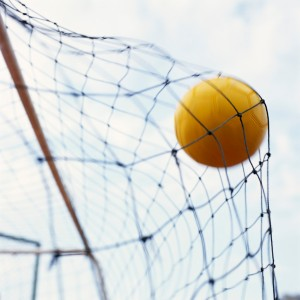 Soccer Ball Hitting Net