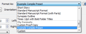 Load Compile Presets