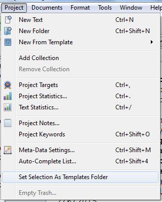 Scrivener Set As Template Folder
