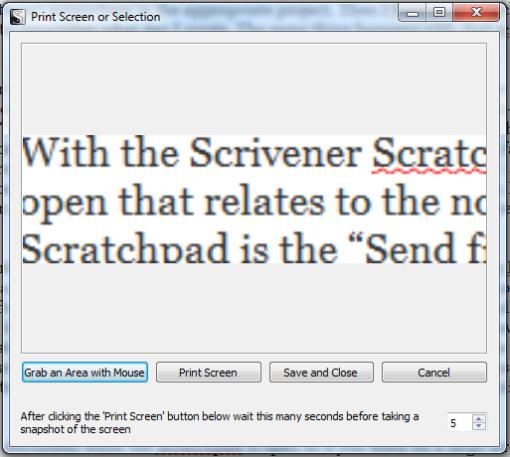 Scriv Scratchpad Printscreen