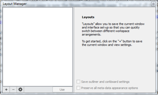 Scriv Layout Manager