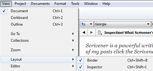 How to turn on the Inspector bar