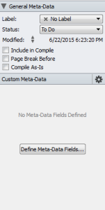 Scriv Meta Data