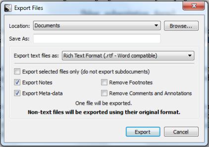 Scriv Export Box